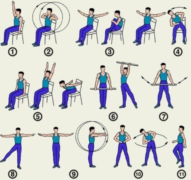 Плечелопаточный периартрит - комплекс упражнений