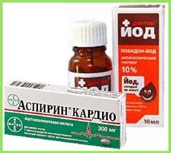 Йод и аспирин от косточек на ногах - рецепт эффективный