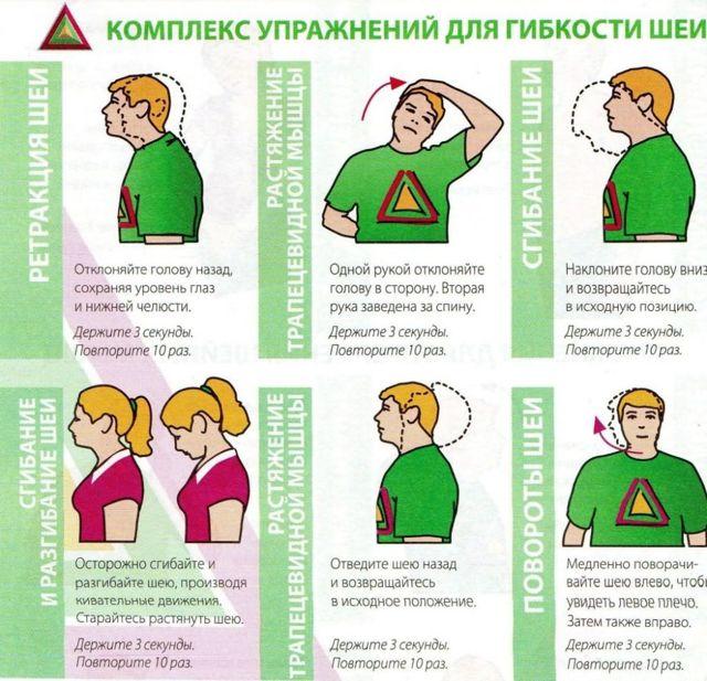 Упражнения при нестабильности шейного отдела позвоночника