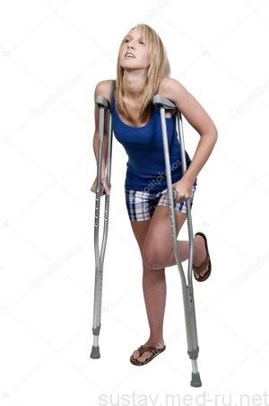 Как ходить на костылях при переломе ноги, лодыжки или бедра